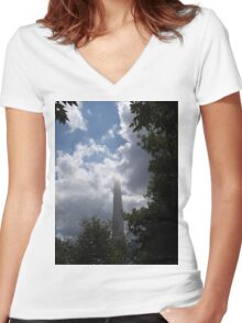 Gateway to the Sky Women's Fitted V-Neck T-Shirt