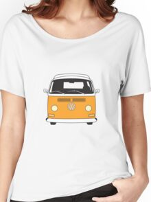 Early Bay VW Camper Front Orange Women's Relaxed Fit T-Shirt