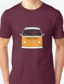 Early Bay VW Camper Front Orange Unisex T-Shirt