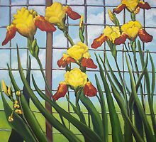 Yellow Irises by Ellen Sullivan Farley