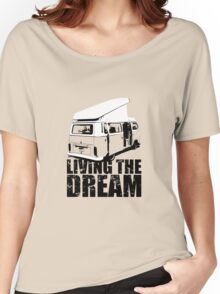 VW Camper Open Roof Living The Dream Women's Relaxed Fit T-Shirt