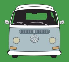 Early Bay VW Camper Front Pale Blue Kids Clothes
