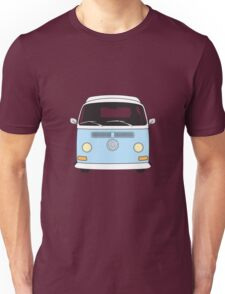 Early Bay VW Camper Front Pale Blue Unisex T-Shirt