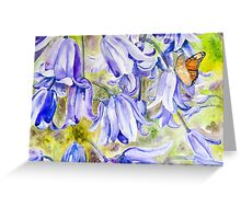 Bluebells & Butterfly Greeting Card