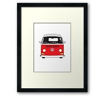 Early Bay VW Camper Front Red Framed Print