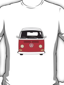 Early Bay VW Camper Front Red T-Shirt