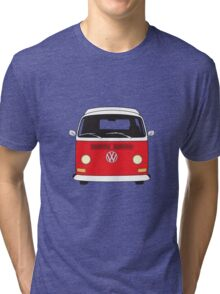 Early Bay VW Camper Front Red Tri-blend T-Shirt
