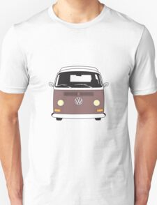 Early Bay VW Camper Front Brown Unisex T-Shirt