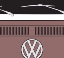 Early Bay VW Camper Front Brown Sticker
