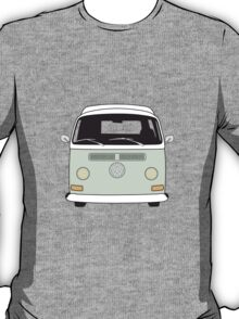 Early Bay VW Camper Front Pale Green T-Shirt
