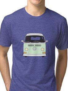 Early Bay VW Camper Front Pale Green Tri-blend T-Shirt