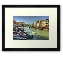 Life in Venice Framed Print