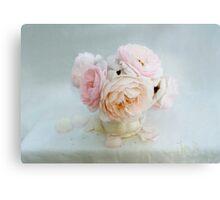 Bouquet of Pastel June Roses Canvas Print