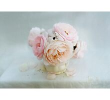 Bouquet of Pastel June Roses Photographic Print