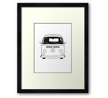 Early Bay VW Camper Line Art Framed Print