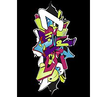 Wildstyle Graffiti Digital Sketch Photographic Print