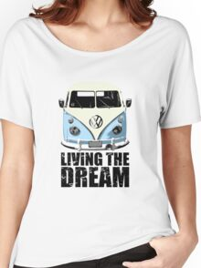 VW Camper Living The Dream Pale Blue Women's Relaxed Fit T-Shirt