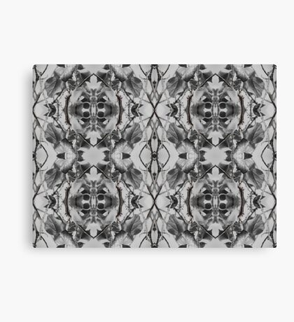 More black and white leaf patterns Canvas Print