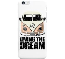VW Camper Living The Dream Apricot iPhone Case/Skin