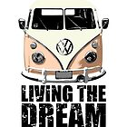 VW Camper Living The Dream Apricot by splashgti