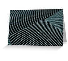 Line Art - Geometric Illusion, abstraction no. 3 Greeting Card