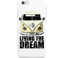 VW Camper Living The Dream Lemon iPhone Case/Skin