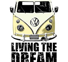 VW Camper Living The Dream Lemon by splashgti