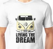 VW Camper Living The Dream Lemon Unisex T-Shirt
