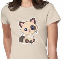 Mochi Kitten Smile Womens Fitted T-Shirt