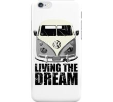 VW Camper Living The Dream Grey iPhone Case/Skin
