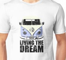 VW Camper Living The Dream Blue Unisex T-Shirt