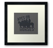 Apes on Tee-horses Framed Print