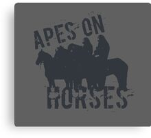 Apes on Tee-horses Canvas Print
