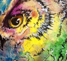 Galaxy Owl Sticker