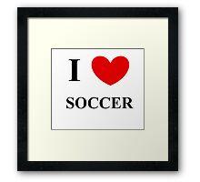 I <3 soccer! Framed Print