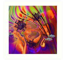 Octopus paradise Art Print