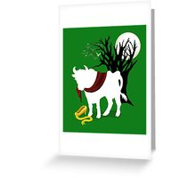 Into the Woods -  Green Background Greeting Card