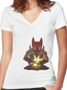 Dota 2 Creep Women's Fitted V-Neck T-Shirt