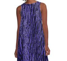 Line Art - The Blues A-Line Dress