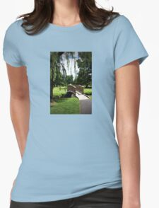 Weeping Willow Bridge Womens Fitted T-Shirt