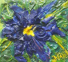 Blaue Blume (acrylic) by Niki Hilsabeck