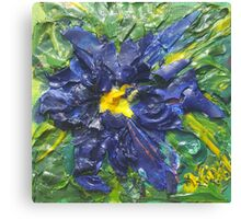 Blaue Blume (acrylic) Canvas Print