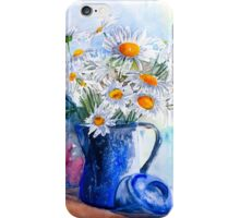 Daisies in a Blue Jug iPhone Case/Skin