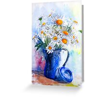 Daisies in a Blue Jug Greeting Card