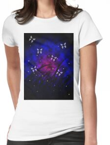 Butterflies at Night Womens Fitted T-Shirt