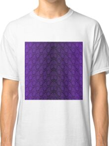 Deep Purple and Black Python Snake Skin Reptile Scales Classic T-Shirt