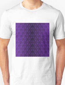 Deep Purple and Black Python Snake Skin Reptile Scales Unisex T-Shirt