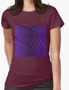 Deep Purple and Black Python Snake Skin Reptile Scales Womens Fitted T-Shirt