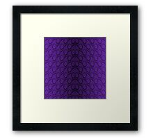 Deep Purple and Black Python Snake Skin Reptile Scales Framed Print