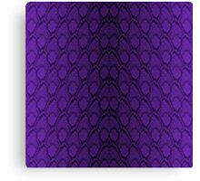 Deep Purple and Black Python Snake Skin Reptile Scales Canvas Print